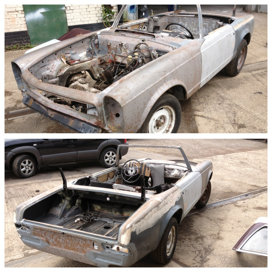 mercedes 230sl for restoration