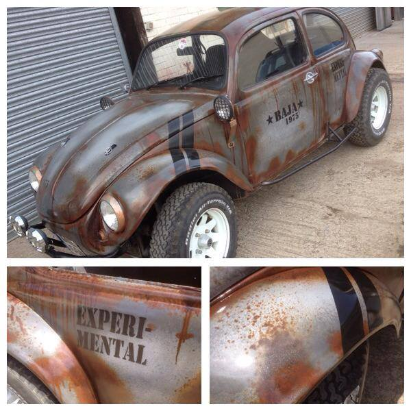 car painted rust effect