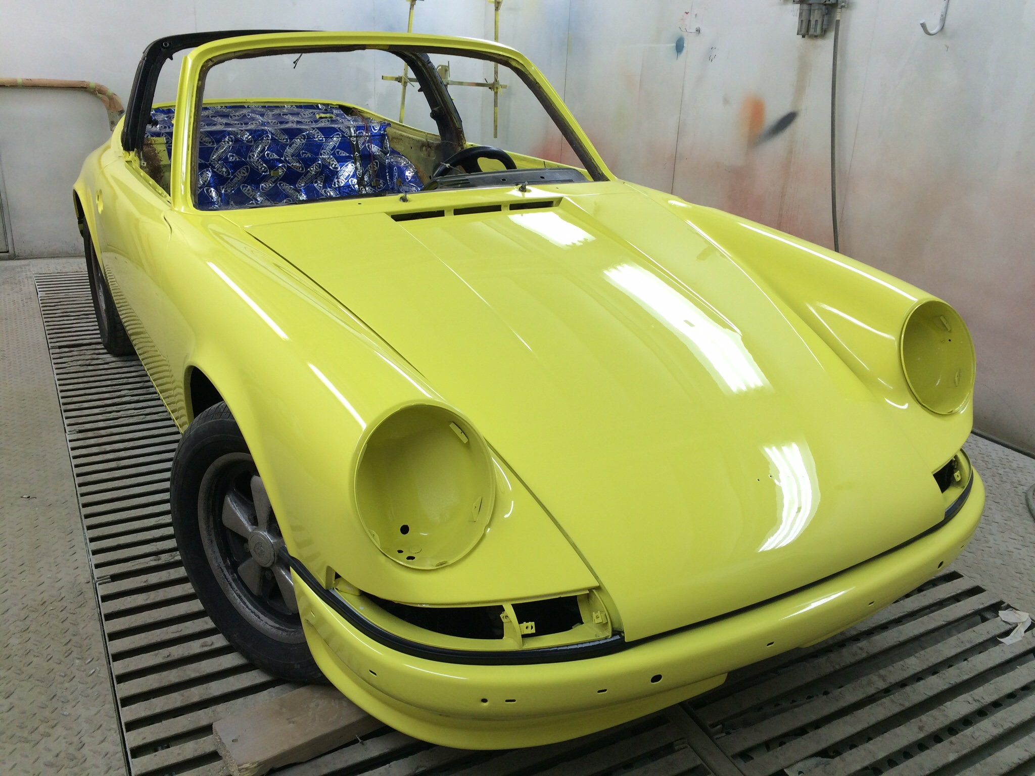 Porsche Targa paint work2