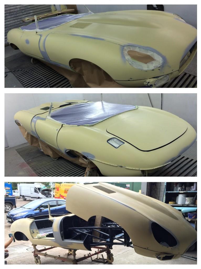 Jaguar E-Type in primer