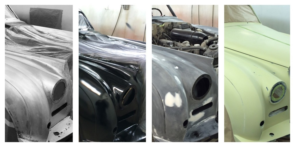 stages of paintng a car body