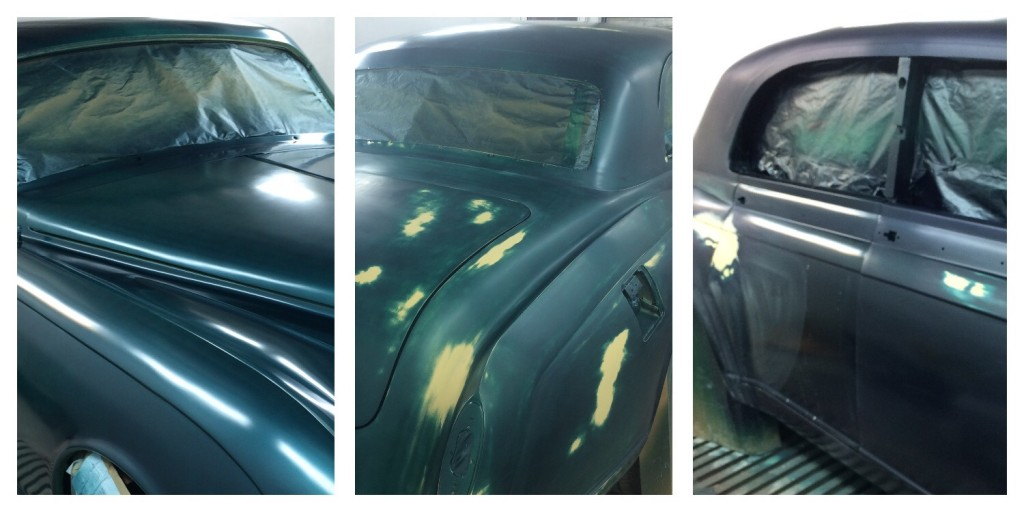 processes of painting a car