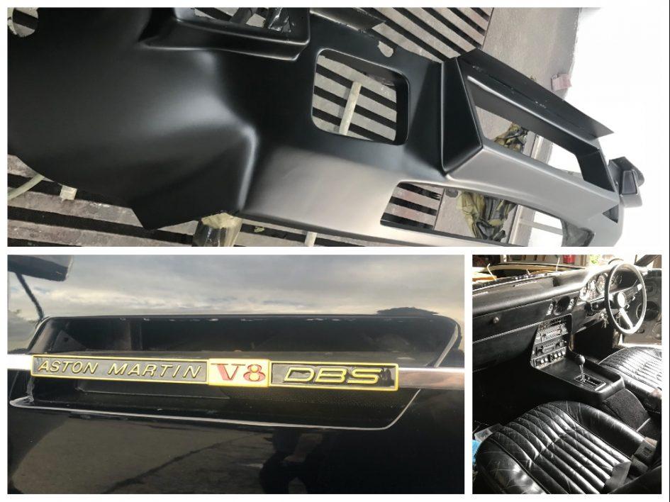 Hand made Aston Martin DBS fibreglass front lower valance
