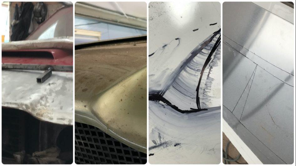 fabricating Aston Martin Panel