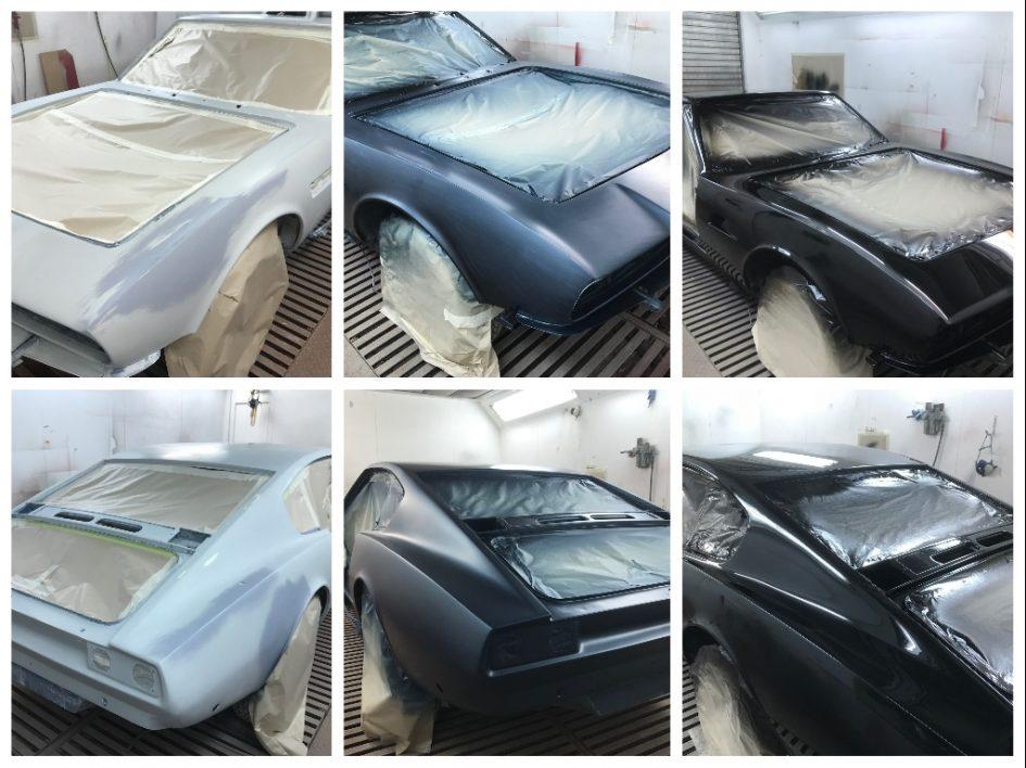 Repainting classic Aston Martin